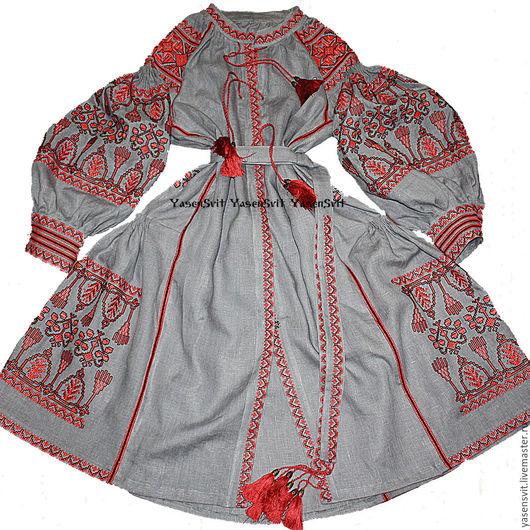 Вышиванка Вышитое платье  Украинское платье Украина Бохо платье Платье вышиванка Макси платье Льняное платье  Бохо шик Национальная Етничекая  Вита Кин Валентино