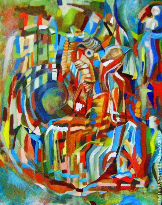 Абстракция ручной работы. Ярмарка Мастеров - ручная работа. Купить Мутабор. Handmade. Разноцветный, мутабор, маг, волшебгик, геометрия, холст