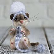 Куклы и игрушки ручной работы. Ярмарка Мастеров - ручная работа Мышонок Помпончик.. Handmade.