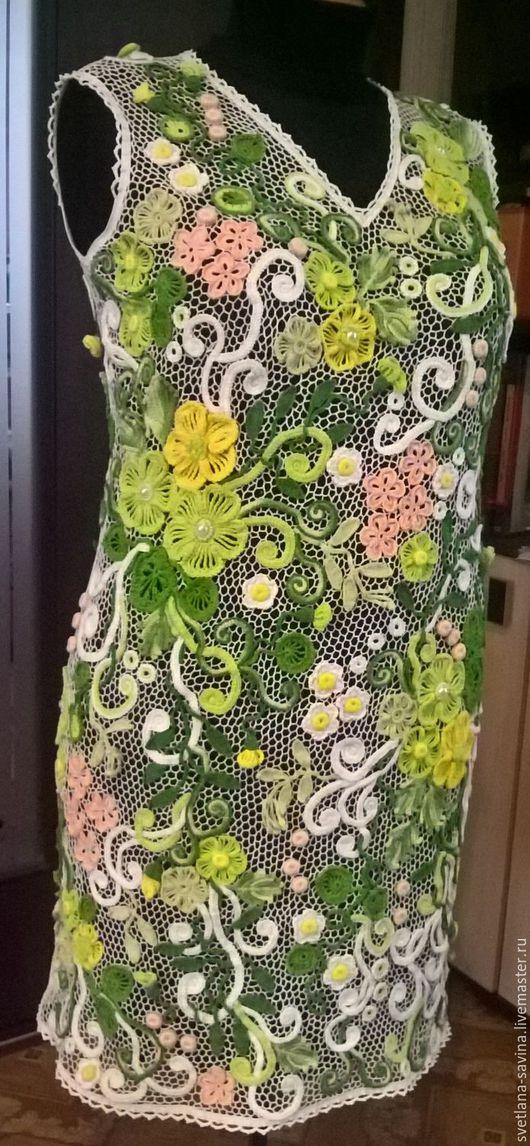 """Платья ручной работы. Ярмарка Мастеров - ручная работа. Купить Платье """" Летнее настроение"""". Handmade. Комбинированный, платье летнее"""