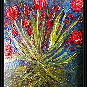 Картины и панно handmade. Livemaster - original item Paintings: dancing tulips, oil. Handmade.