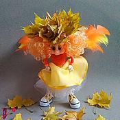 Куклы и пупсы ручной работы. Ярмарка Мастеров - ручная работа Кукла Серафима. Рыжий ангел. Текстильная подвижная кукла. Handmade.