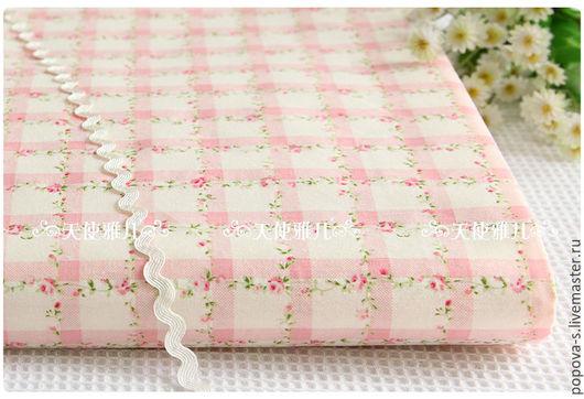 Шитье ручной работы. Ярмарка Мастеров - ручная работа. Купить Набор ткани  хлопок Шебби. Handmade. Бледно-розовый