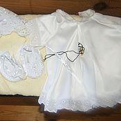 Крестильные рубашки ручной работы. Ярмарка Мастеров - ручная работа Крестильный комплект. Handmade.
