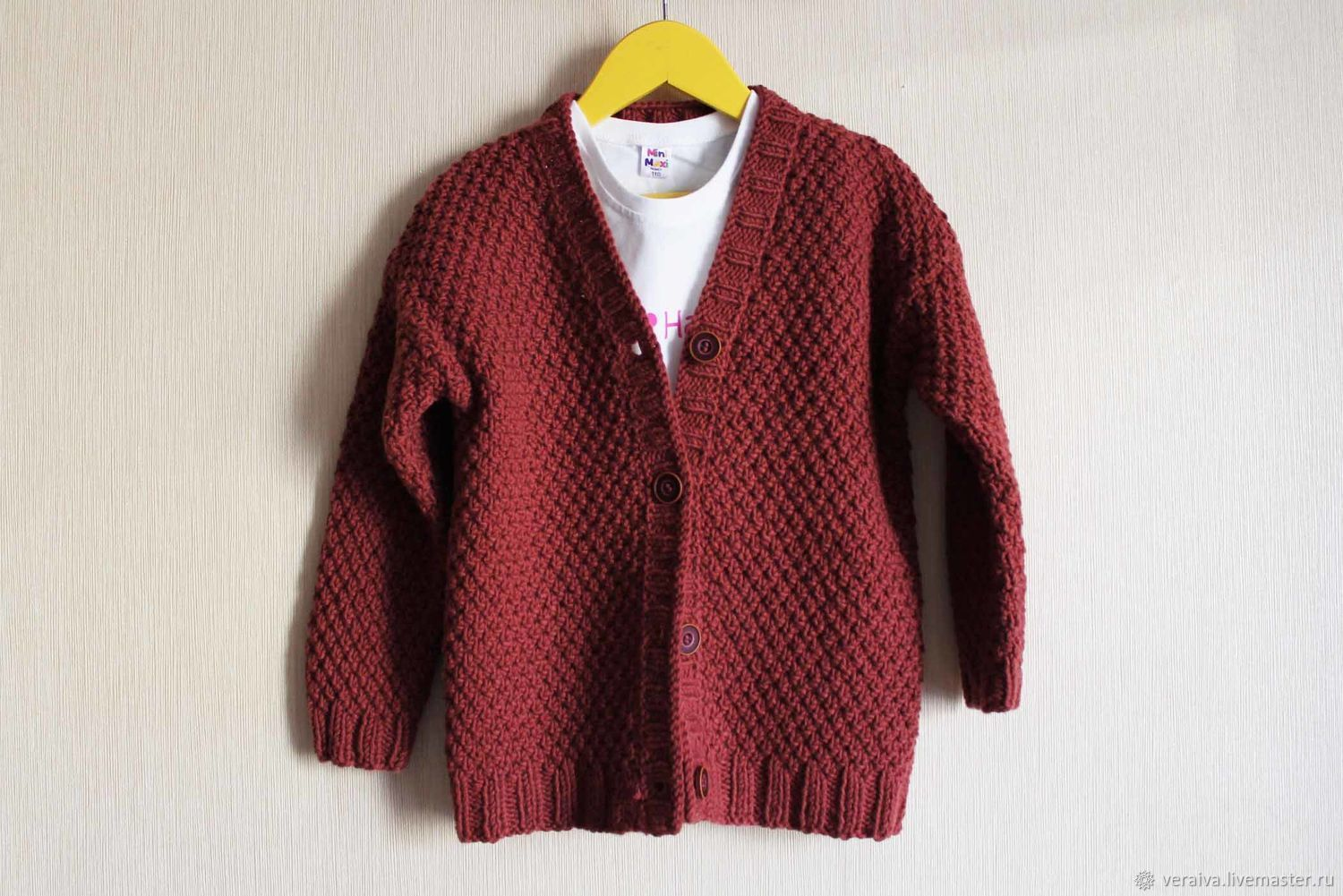 Clothes for Girls handmade. Livemaster - handmade. Buy Cardigan 4 years.Brown, cardigan for girls