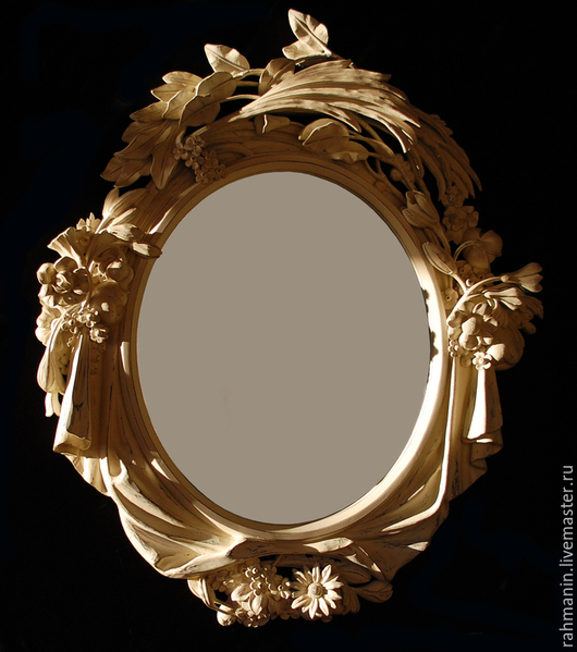 Зеркала ручной работы. Ярмарка Мастеров - ручная работа. Купить Рама для зеркала. Handmade. Белый, резьба по дереву, липа