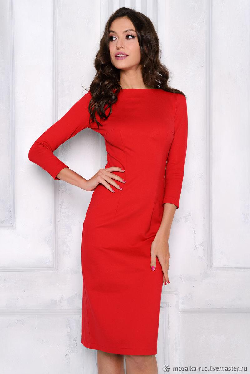 Sheath dress bright red, Dresses, Novosibirsk,  Фото №1