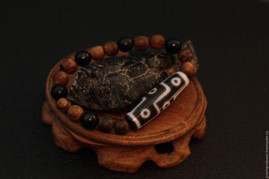 Браслеты ручной работы. Ярмарка Мастеров - ручная работа. Купить Тибетский  браслет (коралл) дзи . 9 глаз дзи. Handmade.