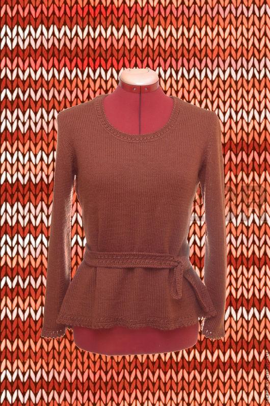 Кофты и свитера ручной работы. Ярмарка Мастеров - ручная работа. Купить Женский джемпер из невесомого мохера. Handmade. Рыжий
