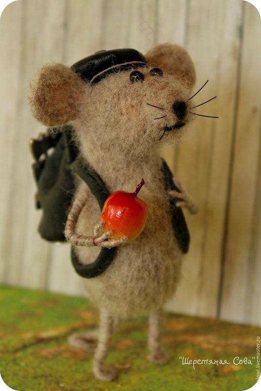 Игрушки животные, ручной работы. Ярмарка Мастеров - ручная работа. Купить Крысо-туристо. Handmade. Бежевый, Туризм, рюкзак