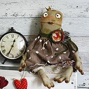 Куклы и игрушки ручной работы. Ярмарка Мастеров - ручная работа Текстильная кукла. Лягушка Акулина.. Handmade.