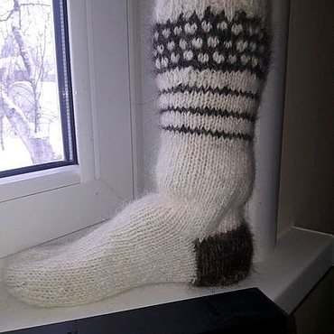 Аксессуары handmade. Livemaster - original item Socks-socks from dog down (wool). Handmade.