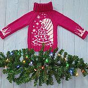 """Свитер ручной работы. Ярмарка Мастеров - ручная работа Свитер для девочки """"Зимняя сказка"""" свитер с оленями. Handmade."""