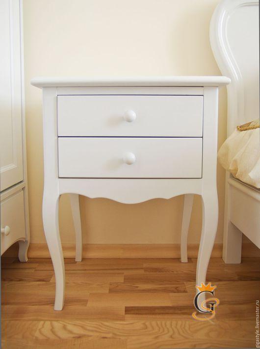 Мебель ручной работы. Ярмарка Мастеров - ручная работа. Купить Тумба прикроватная на длинных ножках. Handmade. Белый, тумбочка