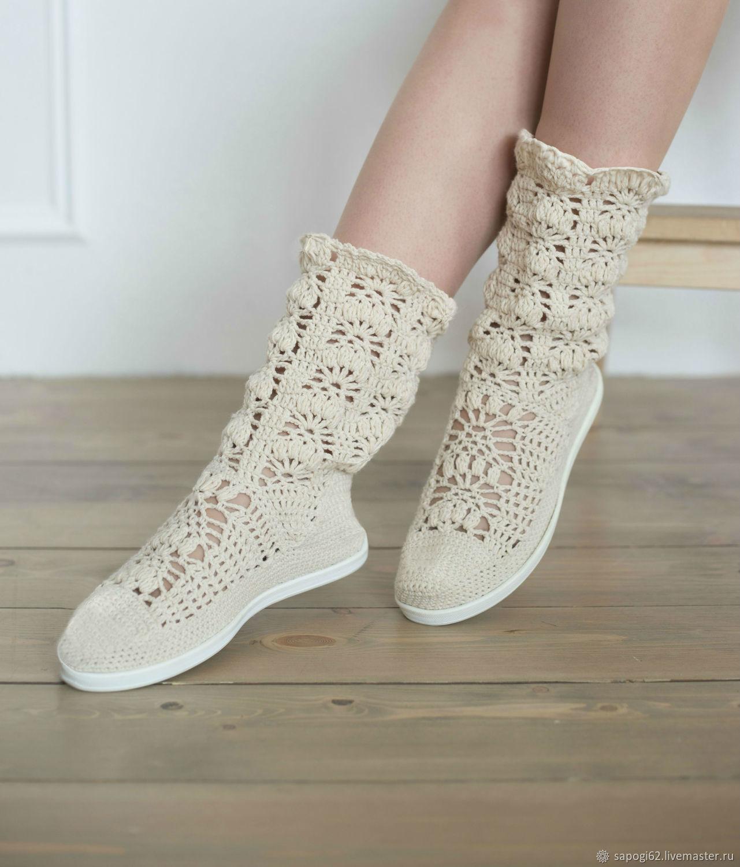 "Сапоги летние ""Эмили"", High Boots, Ryazan,  Фото №1"