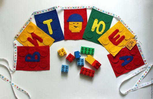 Детская ручной работы. Ярмарка Мастеров - ручная работа. Купить Флажки и мягкие буквы из фетра. Handmade. Разноцветный, буквы, фетр