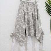 Одежда handmade. Livemaster - original item No. №217 Linen double boho skirt. Handmade.