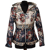 Русский стиль handmade. Livemaster - original item The author of the tapestry fabric jacket with a hood. Handmade.