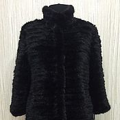 Одежда handmade. Livemaster - original item Coat of knitted mink