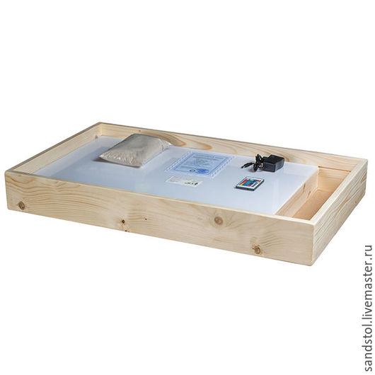 Настольные игры ручной работы. Ярмарка Мастеров - ручная работа. Купить Планшет для рисования песком 50х70см+отсек(цветная подсветка+пульт). Handmade.