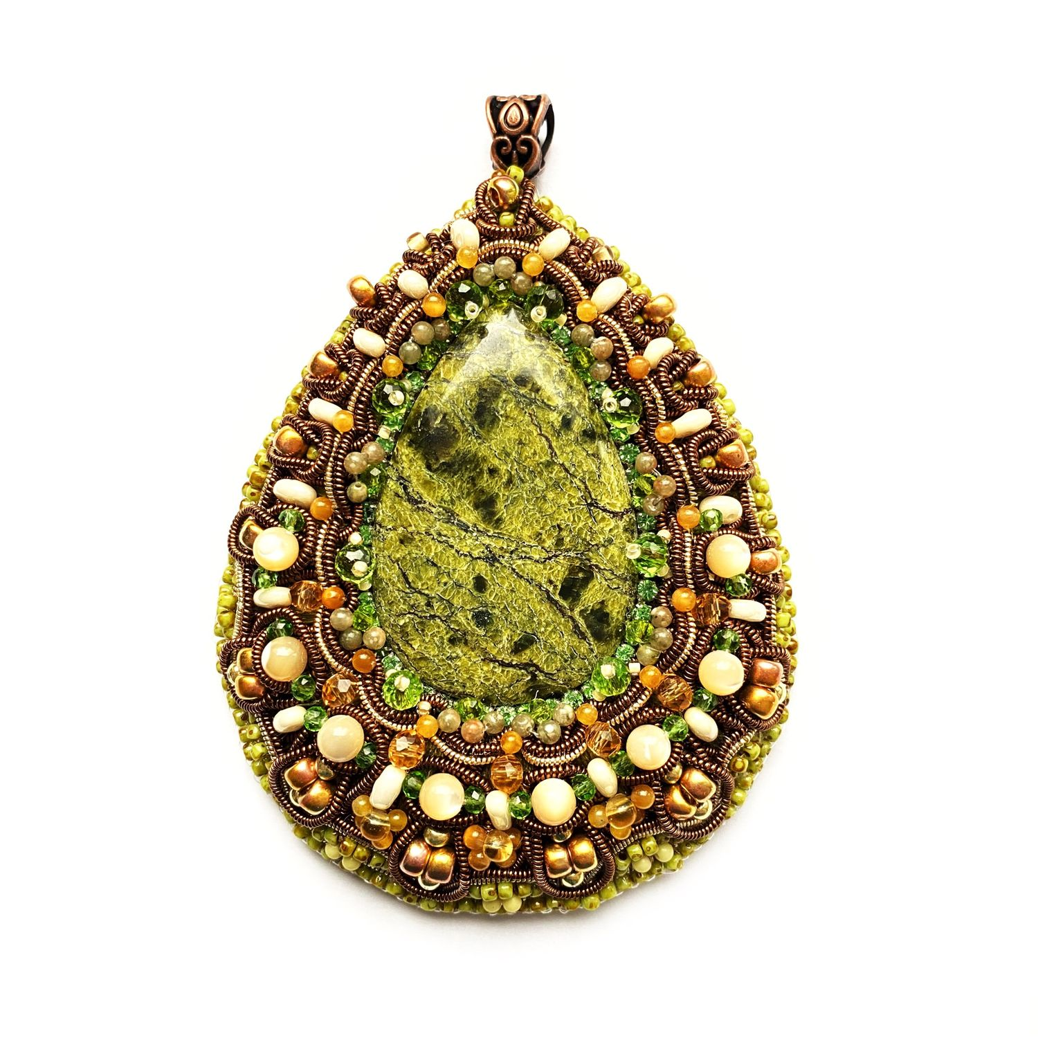 pendant, pendant decoration made of natural stone mistress of the copper mountain, Pendants, Moscow,  Фото №1