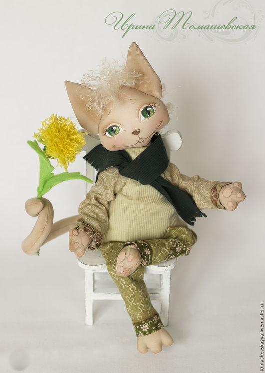 Кот, игрушка интерьерная текстильная. Милый котик. Куклы и игрушки Томашевской Ирины.