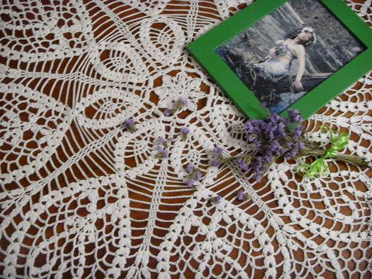 Текстиль, ковры ручной работы. Ярмарка Мастеров - ручная работа. Купить скатерть-салфетка. Handmade. Белый, салфетки крючком