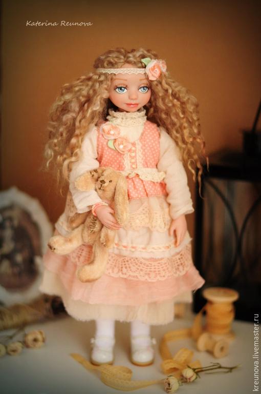 Коллекционные куклы ручной работы. Ярмарка Мастеров - ручная работа. Купить Ванесса. Handmade. Кремовый, подарок на любой случай, кружево