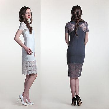 Одежда ручной работы. Ярмарка Мастеров - ручная работа 248: облегающее платье кружевное. Handmade.
