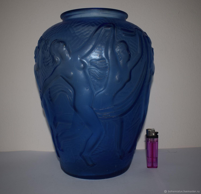 Large frosted glass vase inwald 1930 hs art deco shop online on vintage interior decor livemaster handmade buy large frosted glass vase inwald 1930 hs reviewsmspy