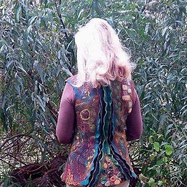 Clothing handmade. Livemaster - original item Vest felted Mystery of the old willow. Handmade.