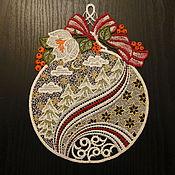 Винтаж ручной работы. Ярмарка Мастеров - ручная работа Новогоднее украшение  для дома «Волшебный шар»  - винтажное Плауэнское. Handmade.