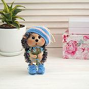 Куклы и игрушки handmade. Livemaster - original item Soft toys: Hedgehog with forget-me-nots. Handmade.