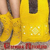Обувь ручной работы. Ярмарка Мастеров - ручная работа комплект сапожки + сумка. Handmade.