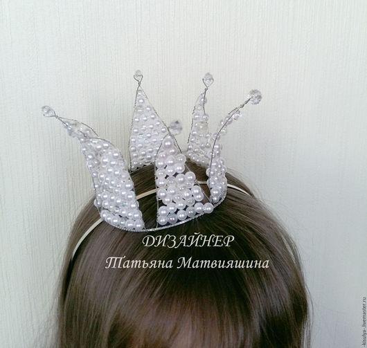 Диадемы, обручи ручной работы. Ярмарка Мастеров - ручная работа. Купить Корона для принцессы. Handmade. Белый, корона для принцессы