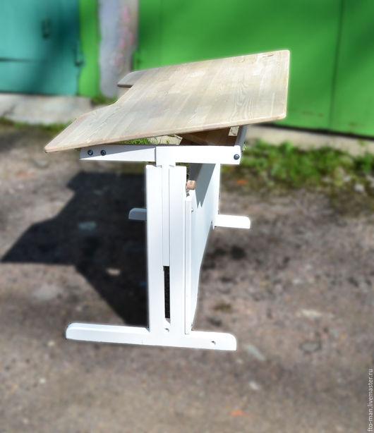 Детская ручной работы. Ярмарка Мастеров - ручная работа. Купить Парта 3.0. Handmade. Белый, фанера
