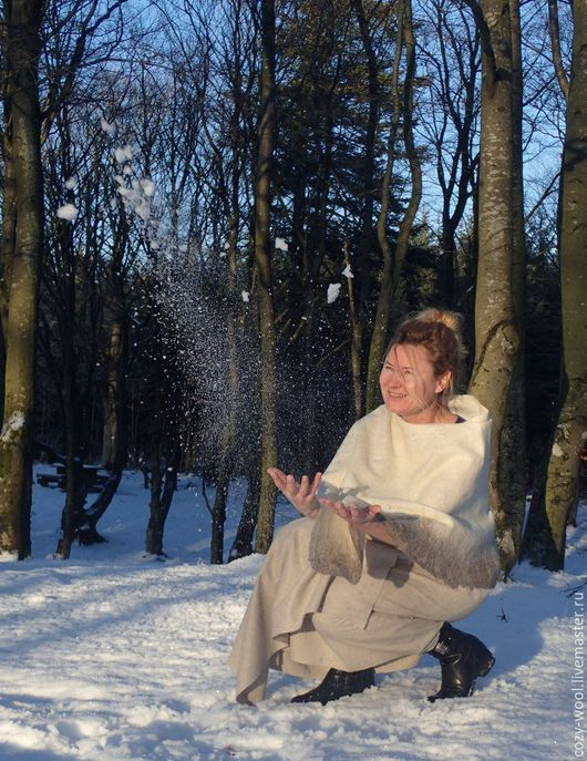 Пончо ручной работы. Ярмарка Мастеров - ручная работа. Купить Пончо Nordic story. Handmade. Белый, для невесты, бохо шик