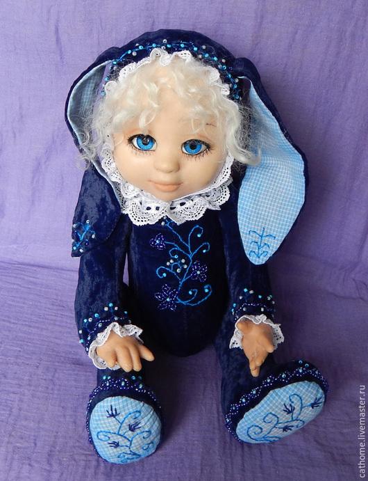 Коллекционные куклы ручной работы. Ярмарка Мастеров - ручная работа. Купить Тедди-долл Софийка. Handmade. Тёмно-синий