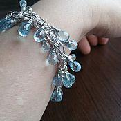 Украшения handmade. Livemaster - original item silver bracelet with topaz stones.. Handmade.