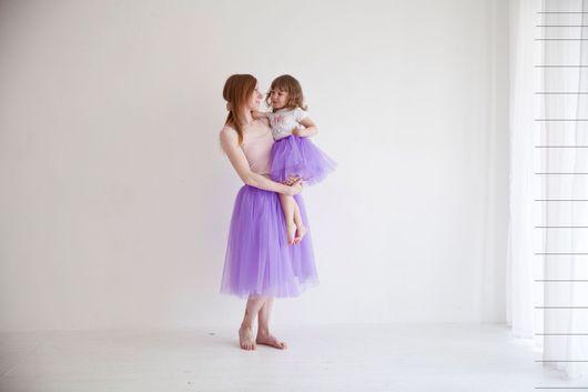 Юбки ручной работы. Ярмарка Мастеров - ручная работа. Купить Мама + Дочка юбочки из фатина. Handmade. Фатин, еврофатин
