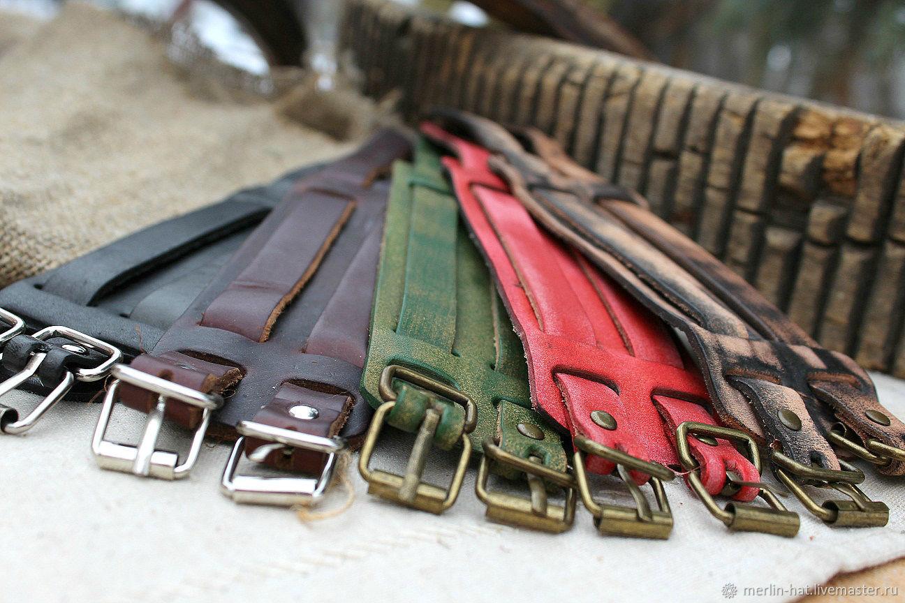 """Браслеты ручной работы. Ярмарка Мастеров - ручная работа. Купить Широкий кожаный браслет """"Атилла"""". Handmade. Кожа, широкий браслет"""