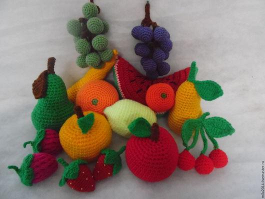 Еда ручной работы. Ярмарка Мастеров - ручная работа. Купить Вязанные фрукты, ягоды. Handmade. Фрукты, еда для кукол
