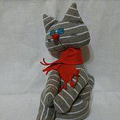 Куклы и игрушки ручной работы. Ярмарка Мастеров - ручная работа Текстильные коты. Handmade.