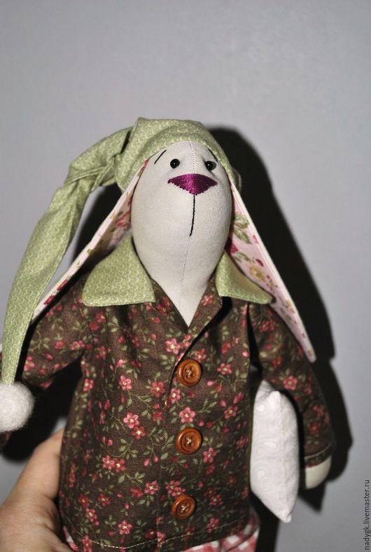 Куклы Тильды ручной работы. Ярмарка Мастеров - ручная работа. Купить Сонный Зая (заяц Тильда текстильный). Handmade. Комбинированный