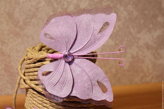 Текстиль, ковры ручной работы. Ярмарка Мастеров - ручная работа. Купить Бабочки для штор. Комплект 2 штуки.. Handmade. Сиреневый