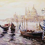 Картина маслом  Венеция  размер 80х60см