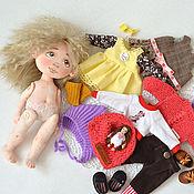handmade. Livemaster - original item Doll with clothes set. Handmade.
