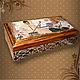 Trinket Boxes handmade. Livemaster - handmade. Buy Box - copernica 'Billiard club'.Gift for men, gift for birthday