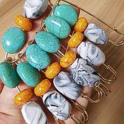 Украшения handmade. Livemaster - original item SEA STONES decorative pins Brooch pin Amulet against the evil eye. Handmade.
