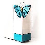 handmade. Livemaster - original item Lamp Butterfly. Tiffany table lamp. Stained glass lamp. Handmade lamp.. Handmade.